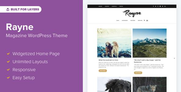 قالب Rayne - قالب وردپرس وبلاگی