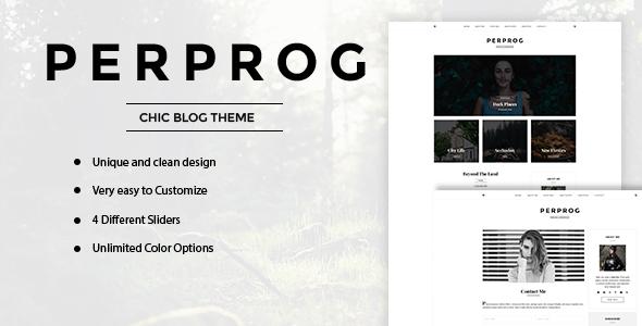 قالب PerProg - قالب وردپرس بلاگی