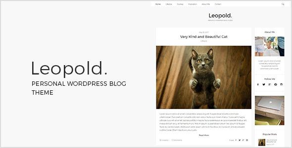 Leopold - قالب وبلاگ وردپرس شخصی