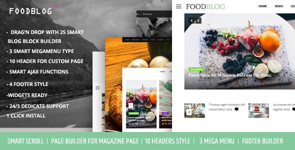 قالب FoodBlog - قالب وردپرس بلاگ و مجله شخصی