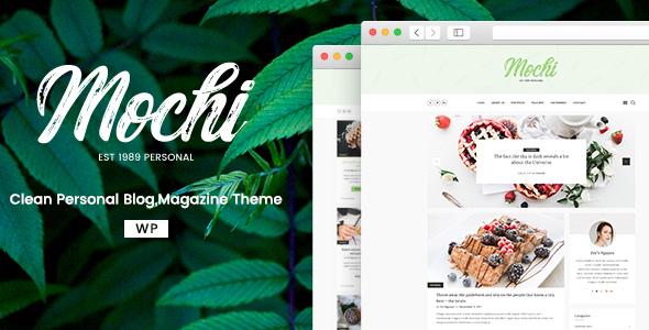 قالب Mochi - قالب وبلاگ شخصی برای وردپرس