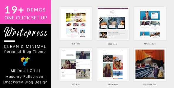 قالب Writepress - قالب وردپرس بلاگ و مجله شخصی