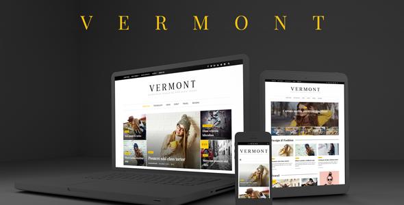 قالب Vermont - قالب مجله و وبلاگ وردپرس
