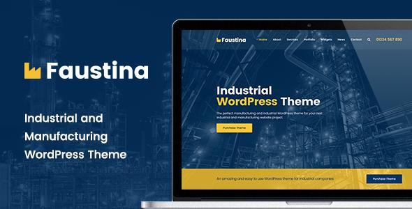 قالب Faustina - قالب ورپرس صنعتی