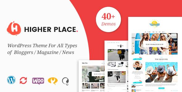 قالب Higher Place - قالب وردپرس وبلاگ و مجله