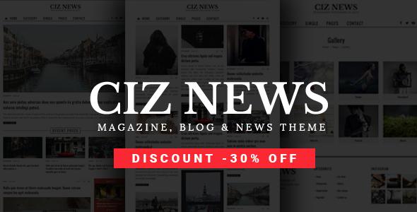 Ciz News - قالب وردپرس مجله، خبر و بلاگ