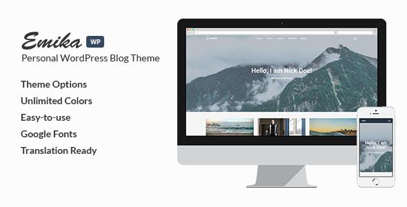 قالب Emika - قالب وبلاگ وردپرس شخصی