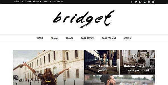 قالب Bridget - قالب مجله و وبلاگ وردپرس