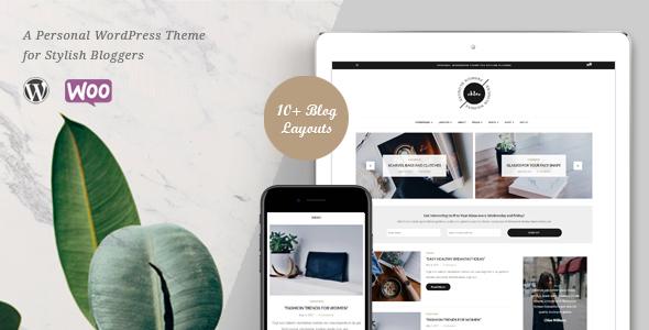 قالب Chloe - قالب وردپرس سایت و فروشگاه شخصی