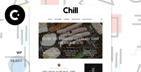 Chill - قالب وردپرس وبلاگ و مجله