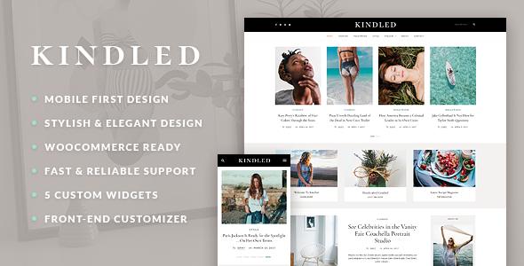 قالب Kindled - قالب وردپرس وبلاگ