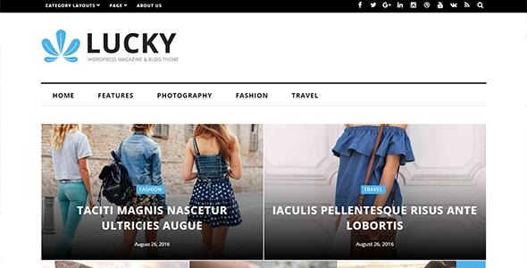 Lucky - قالب مجله و وبلاگ وردپرس