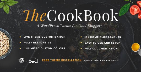 قالب TheCookBook - قالب وردپرس غذا