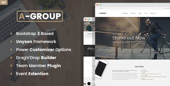 قالب A-Group - قالب وردپرس شرکتی و کسب و کار