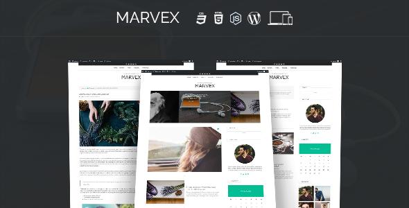 قالب Marvex - قالب وبلاگ وردپرس ریسپانسیو