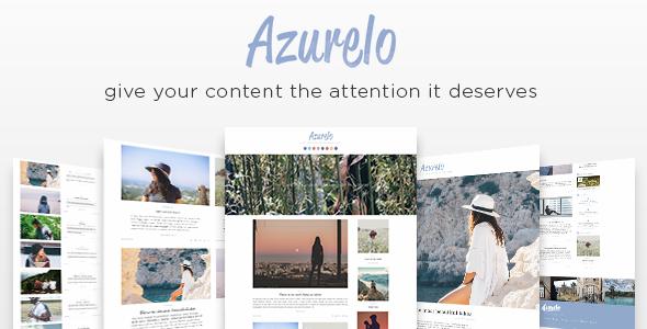قالب Azurelo - قالب وردپرس بلاگی ریسپانسیو