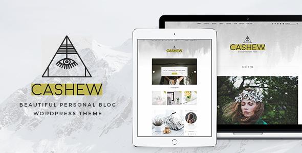 قالب Cashew - قالب وردپرس وبلاگ شخصی