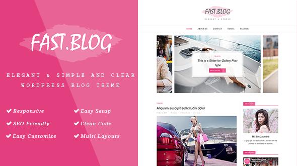 قالب FastBlog - قالب وبلاگ زیبا و ساده وردپرس