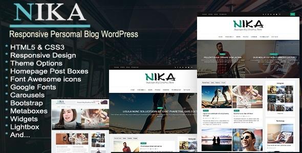 Nika - قالب وردپرس سایت شخصی