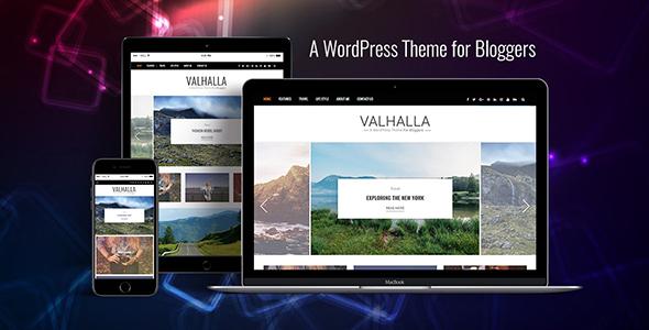 قالب Valhalla - قالب وبلاگ وردپرس