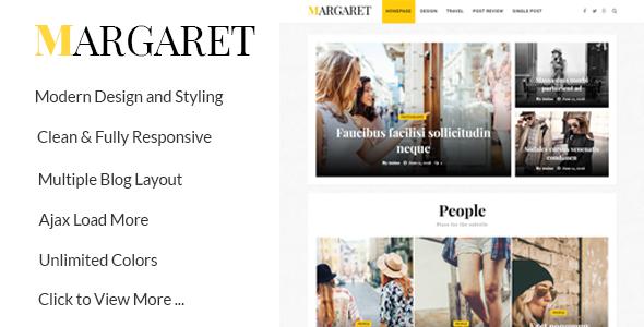 Margaret - قالب مجله و وبلاگ وردپرس