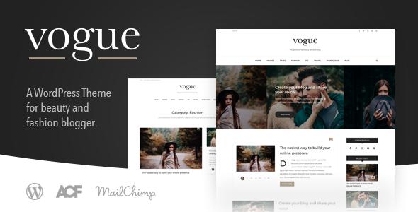 قالب Vogue CD - قالب وبلاگ سبک زندگی و مد برای وردپرس