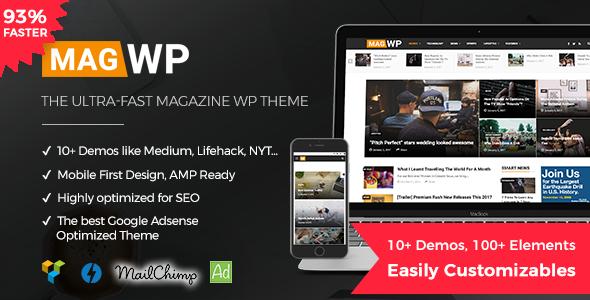 قالب Mag WP - قالب وردپرس مجله