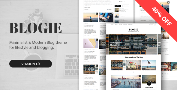 قالب Blogie - قالب وردپرس بلاگی