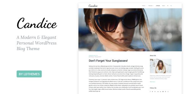 قالب Candice - قالب وبلاگ وردپرس