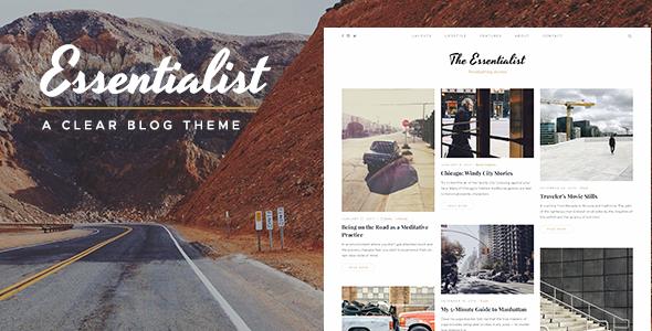قالب Essentialist - قالب وردپرس وبلاگی