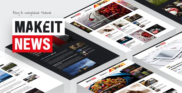 قالب MakeIt - قالب وردپرس وبلاگ و مجله