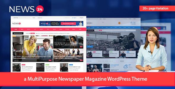 قالب News24 - قالب سایت وردپرس مجله و روزنامه