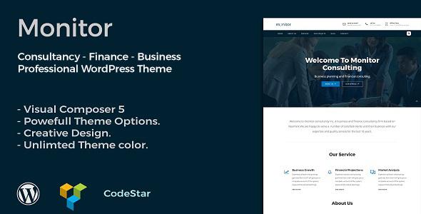 Monitor - قالب وردپرس مشاوره و کسب و کار