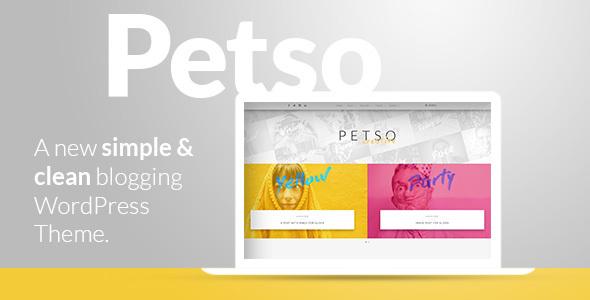 قالب Petso - قالب بلاگ وردپرس