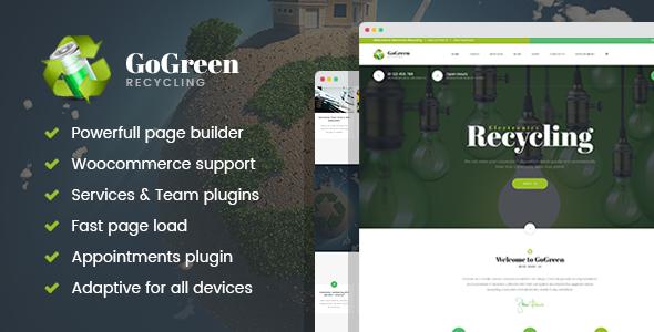 قالب GoGreen - قالب وردپرس مدیریت و بازیافت زباله