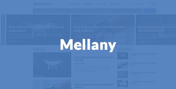 Mellany - قالب وردپرس مجله خبری
