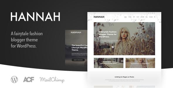 قالب Hannah CD - قالب وبلاگ سبک زندگی و مد برای وردپرس
