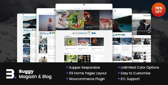 قالب Buggy - قالب وردپرس مجله و بلاگ