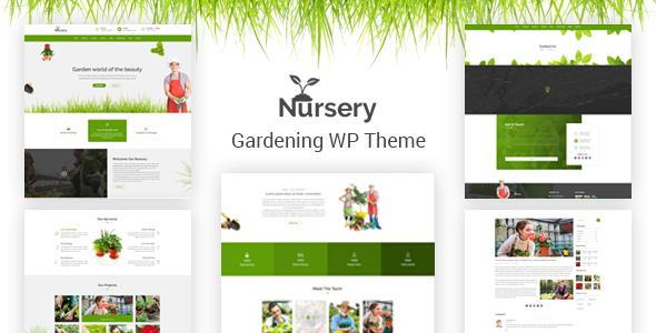قالب Nursery - قالب وردپرس باغبانی و محوطه سازی