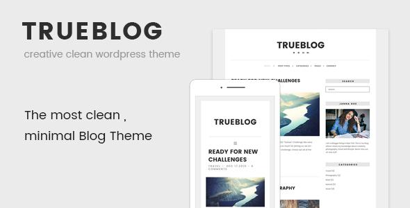 TrueBlog - قالب وردپرس ساده