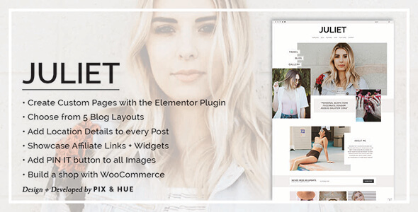 قالب Juliet - قالب وردپرس فروشگاه و وبلاگ