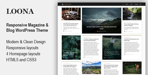 قالب Loona - قالب وردپرس وبلاگ شخصی و مجله