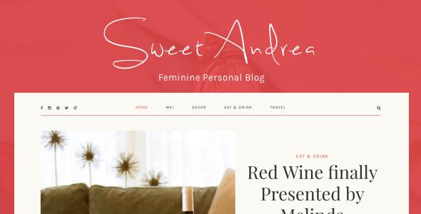 قالب سویت آندره | Sweet Andrea - قالب وبلاگ وردپرس شخصی