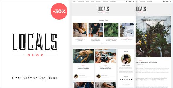 قالب Locals - قالب وردپرس مجله ای سبک و ساده