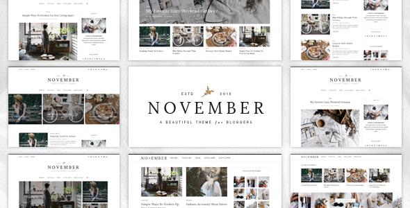 قالب November - قالب وردپرس وبلاگی