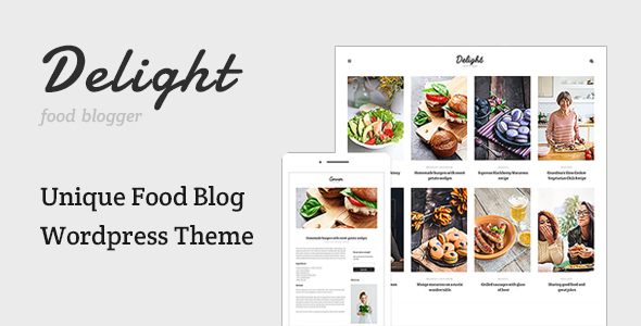 Delight - قالب وردپرس وبلاگ غذا