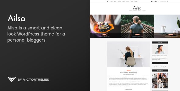 قالب Ailsa - قالب وردپرس وبلاگ شخصی