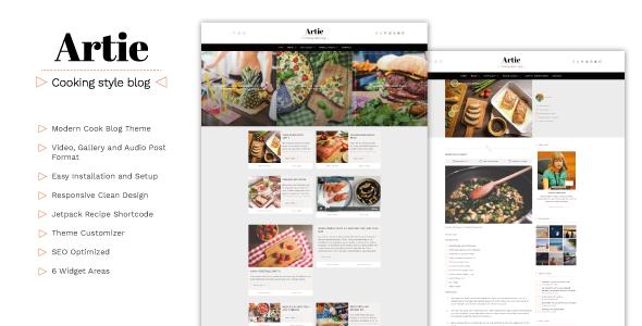 قالب Artie - قالب وردپرس وبلاگ غذا