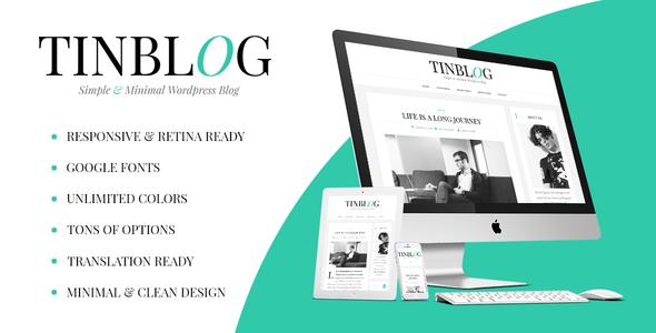 قالب Tinblog - قالب وردپرس وبلاگی مینیمال