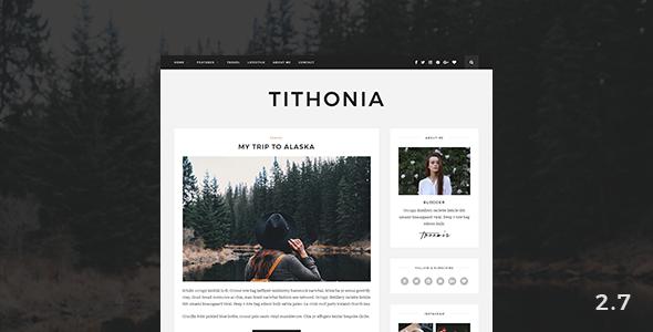 قالب Tithonia - قالب وبلاگ وردپرس